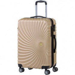 PIERRE CARDIN Valise week-end taille M 65cm avec 8 roues Or