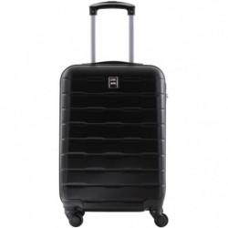 CITY BAG Valise Cabine Ultralight ABS 4 Roues Noir
