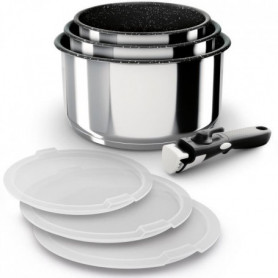 BACKEN Set de Casseroles - Inox - 7 pieces - Tous