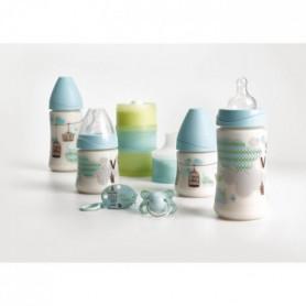 SUAVINEX Set de 4 biberons Welcome Baby avec doseur
