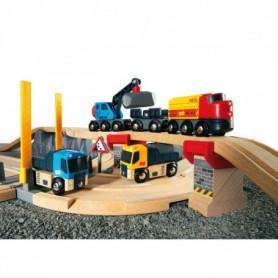 BRIO World Circuits rail route - Transport de roches