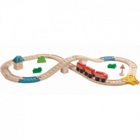 PLAN TOYS Jeu en bois Circuit Train en 8