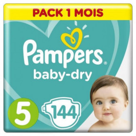 PAMPERS Baby Dry Taille 5 - 11 a 23kg - 144 couches