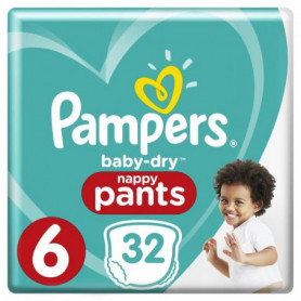 Pampers Baby-Dry Pants Taille 6 15+ kg - 32 Couches