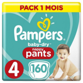 PAMPERS Baby-Dry Pants Taille 4 , 9-15kg, 160 Couches