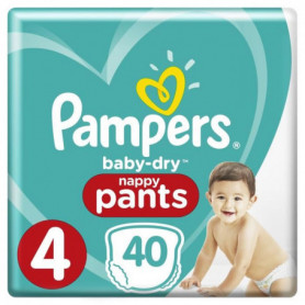 PAMPERS Baby Dry Pants Taille 4 - 8 a 15kg - 40 couches