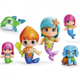 PINYPON - 4 figurines de l'univers Sirenes + 2 Animaux