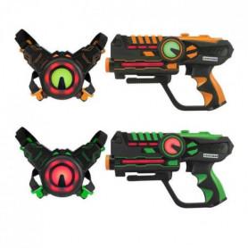 DARPEJE Laser Battle - Set 2 joueurs équipe vert/o
