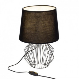 NORIS Lampe a poser métal - 38x27cm - Noir