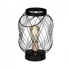BROGAN-Lampe Baladeuse  Métal H30cm Noir Brilliant