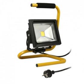 Projecteur de chantier LED 20W portable + cble