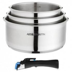 ARTHUR MARTIN Set 3 casseroles 16/18/20 cm + 1 poignée