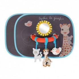 SOPHIE LA GIRAFE Pare-soleil x2 avec arche d'activités