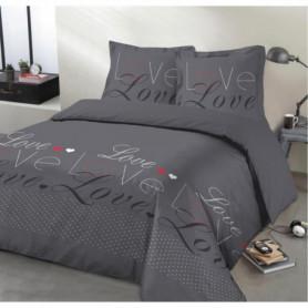 VISION Parure de couette Love - 100% coton