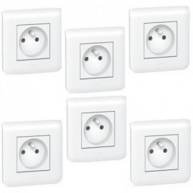 LEGRAND Lot de 6 prises de courant Mosaic