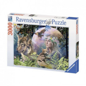 Puzzle 3000 pcs Loup Clair De Lune