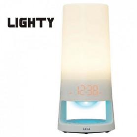 AKAI AC-151W Radio-Réveil lampe veilleuse rechargeable