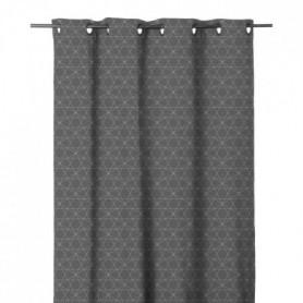 Rideau imprimé en étamine Graphique 140x280 cm