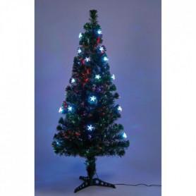 Sapin vert de Noël - H 90 cm - Fibre optique