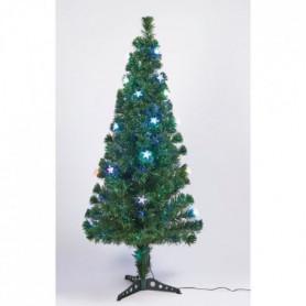 Sapin vert de Noël en PVC - H 50 cm - Fibre optique