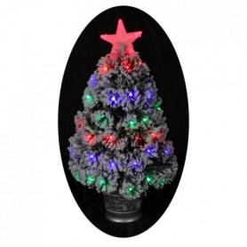 Sapin de Noël artificiel Nashville Floqué - 68 LED