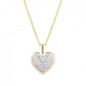LE DIAMANTAIRE Pendentif Coeur Or jaune et Diamant