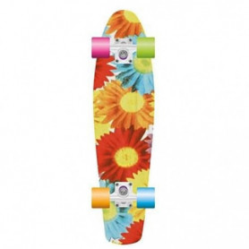 PROHIBITION Skateboard Retro Motif Floral