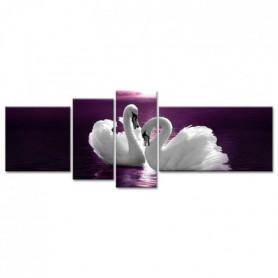 Tableau Déco Cygnes Blancs - 160x60 cm