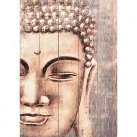 Tableau déco effet panneaux de bois Buddha 50x70 cm