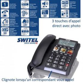 Téléphone sénior Fixe TF550 SWITEL