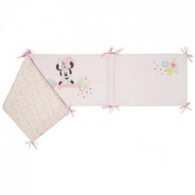DISNEY Tour de lit adaptable Minnie Floral - Velours