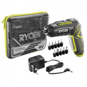 RYOBI Tournevis + 5 accessoires - 4V - 1,3Ah