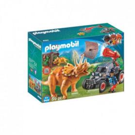 PLAYMOBIL 9434 - Dinos - Bandit Avec Tricératops