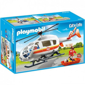 PLAYMOBIL 6686 - City Life - Hélicoptere Médical