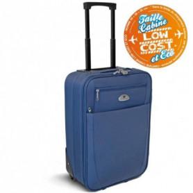 KINSTON Valise Trolley 2 roues 50 cm Bleu
