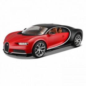 BURAGO Véhicule en métal Bugatti Chiron rouge