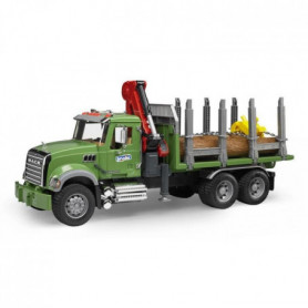 BRUDER - 2824 - Camion de transport de bois MACK