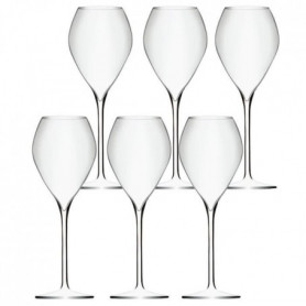 Lot de 6 Verres a Vin Effervescent Premium - 23cl