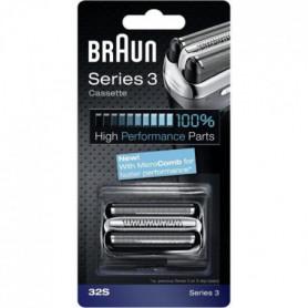 Braun Piece De Rechange 32S Argentée Pour Rasoir