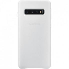 Samsung Coque en cuir S10 - Blanc