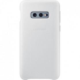 Samsung Coque en cuir S10e - Blanc