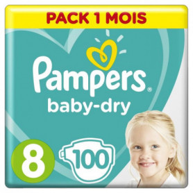 PERS BABY-DRY Taille 8 - 100 couches - Pack 1 mois