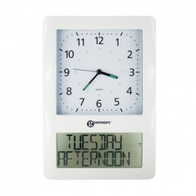 GEEMARC Horloge analogique avec écran numérique VISO 50