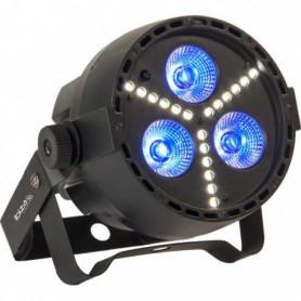 led rgbw 4 en 1 avec stroboscope a led smd - Noir