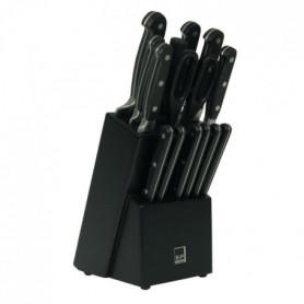 SP Bloc couteau Blade - 15 pieces - Noir