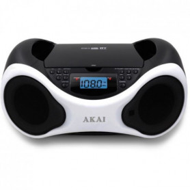 tal - CD MP3 - Bluetooth, USB, AUX - Blanc et noir