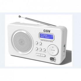 mérique portable FM & DAB+ - Ultra compact - Blanc
