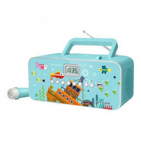 CD MP3 - Port USB - Prise auxilliaire - Turquoise