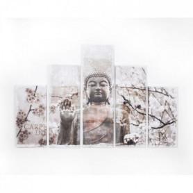 de 5 toiles imprimées Harmonie Boudha - 150x100 cm