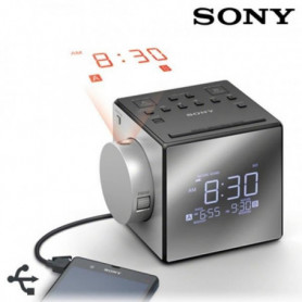 SONY - Radio réveil avec projection de l'heure-Tun